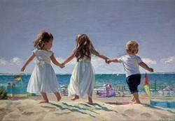 Carefree, Happy Days by Sherree Valentine Daines -  sized 31x22 inches. Available from Whitewall Galleries